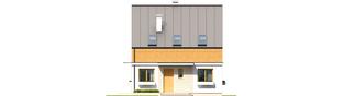 Projekt domu E3 ECONOMIC (wersja B) - elewacja frontowa