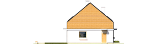 Projekt domu E3 ECONOMIC (wersja B) - elewacja lewa