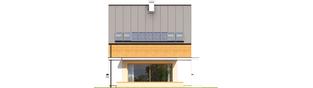 Projekt domu E3 ECONOMIC (wersja B) - elewacja tylna