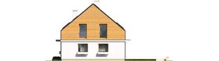 Projekt domu E3 ECONOMIC (wersja B) - elewacja prawa