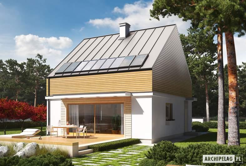Projekt domu E3 ECONOMIC (wersja B) - wizualizacja ogrodowa