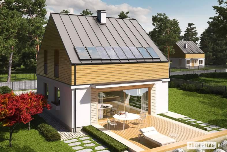 Projekt domu E3 ECONOMIC (wersja B) - widok z góry