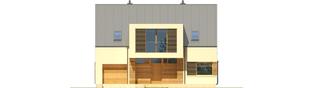 Projekt domu EX 9 G1 (wersja A) soft - elewacja frontowa