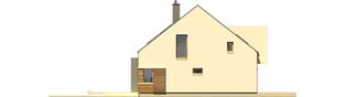 Projekt domu EX 9 G1 (wersja A) soft - elewacja lewa