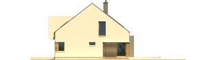 Projekt domu EX 9 G1 (wersja A) soft - elewacja prawa