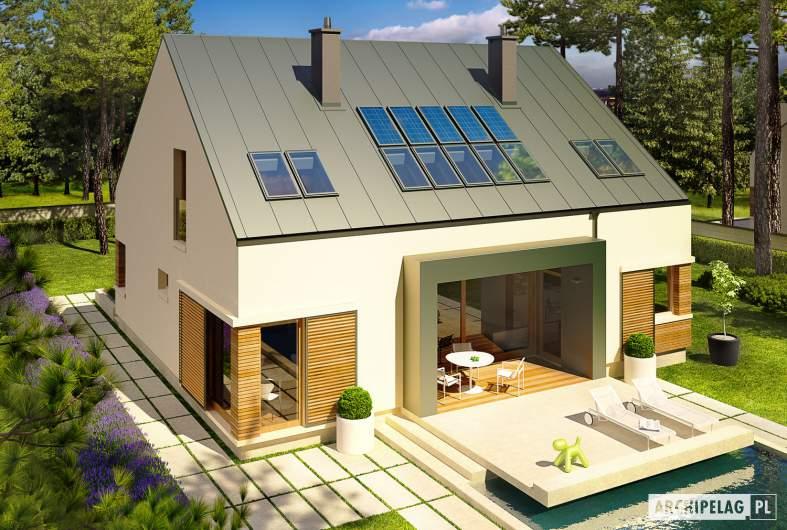 Projekt domu EX 9 G1 (wersja A) soft - widok z góry