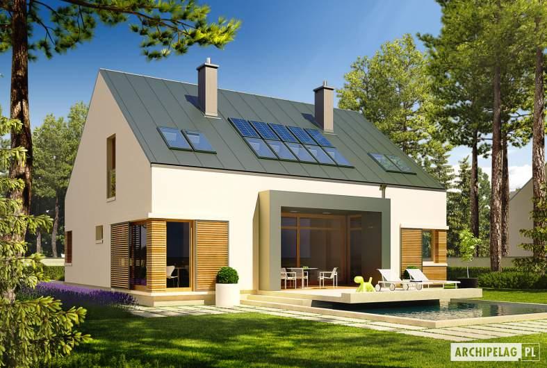 Projekt domu EX 9 G1 (wersja A) soft - wizualizacja ogrodowa