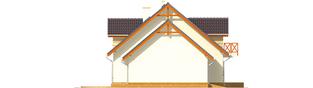 Projekt domu Marina G2 - elewacja lewa