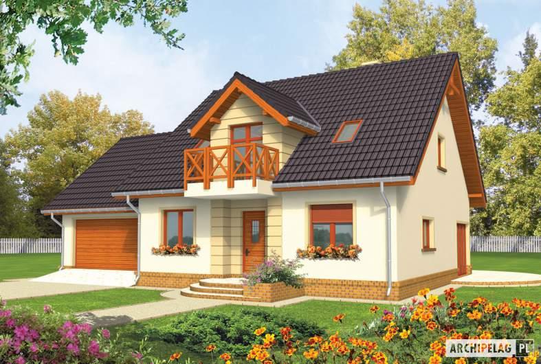 Projekt domu Marina G2 - wizualizacja frontowa