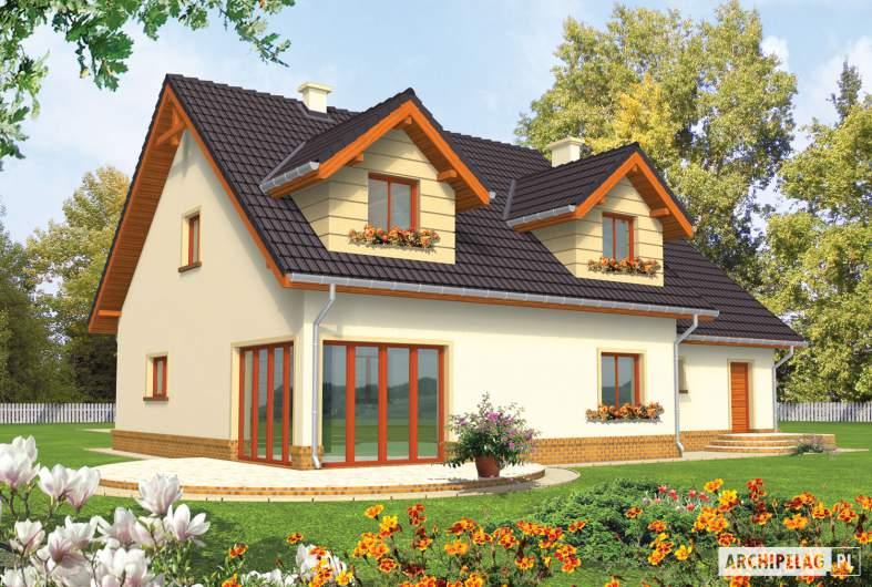 Projekt domu Marina G2 - wizualizacja ogrodowa