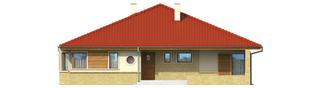 Projekt domu Flori - elewacja frontowa