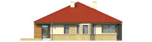 Projekt domu Flori - elewacja lewa