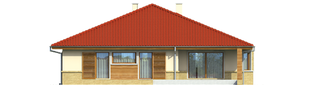 Projekt domu Flori - elewacja tylna