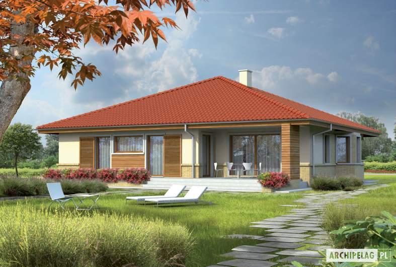 Projekt domu Flori - wizualizacja ogrodowa