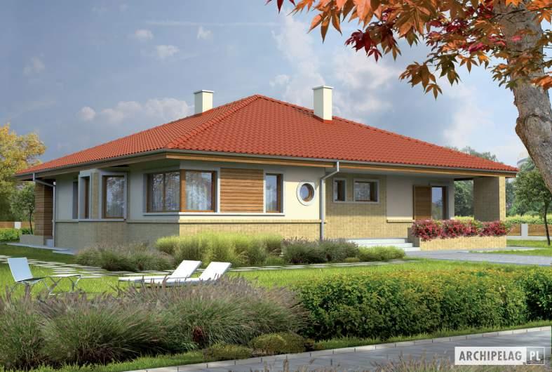 Projekt domu Flori - wizualizacja frontowa