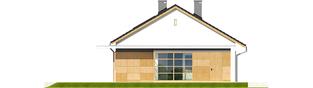 Projekt domu Emi - elewacja lewa
