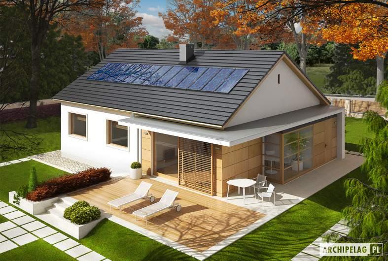 Projekt domu Emi - Projekty domów ARCHIPELAG - Emi - widok z góry