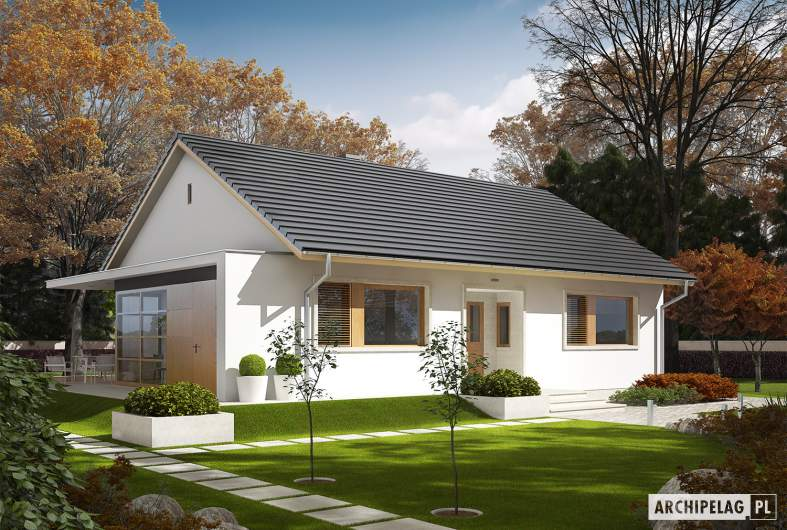 Projekt domu Emi - Projekty domów ARCHIPELAG - Emi - wizualizacja frontowa