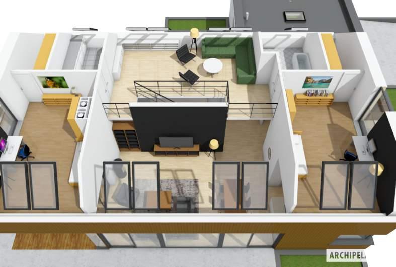 Projekt domu Daniel V G2 ENERGO PLUS - rzut 3D