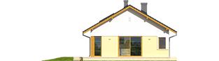 Projekt domu Karmela II - elewacja lewa