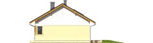 Projekt domu Karmela II - elewacja prawa