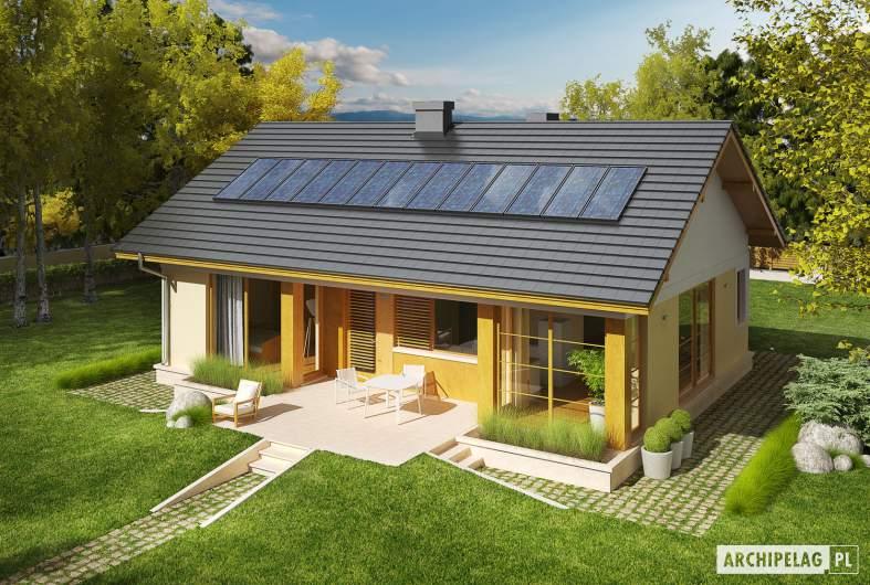 Projekt domu Karmela II - Projekty domów ARCHIPELAG - Karmela II - widok z góry