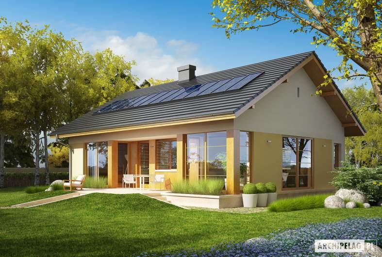 Projekt domu Karmela II - Projekty domów ARCHIPELAG - Karmela II - wizualizacja ogrodowa