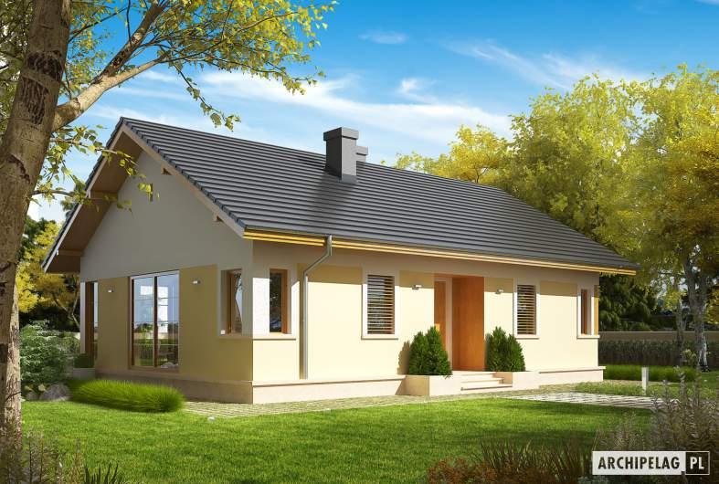 Projekt domu Karmela II - Projekty domów ARCHIPELAG - Karmela II - wizualizacja frontowa