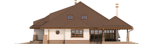 Projekt domu Seweryna G2 Mocca - elewacja prawa