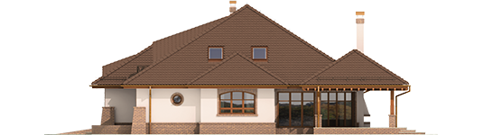 Severina G2 Mocca - Projekt domu Seweryna G2 Mocca - elewacja prawa