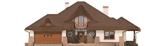 Seweryna - Projekt domu Seweryna G2 Mocca - elewacja frontowa