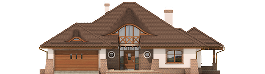 Severina G2 Mocca - Projekt domu Seweryna G2 Mocca - elewacja frontowa