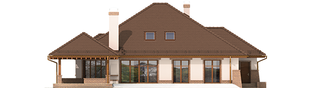 Projekt domu Seweryna G2 Mocca - elewacja tylna