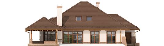 Seweryna - Projekt domu Seweryna G2 Mocca - elewacja tylna