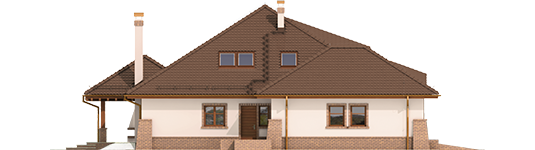 Seweryna - Projekt domu Seweryna G2 Mocca - elewacja lewa