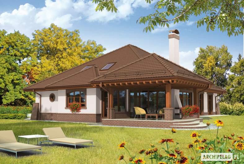 Projekt domu Seweryna G2 Mocca - wizualizacja ogrodowa