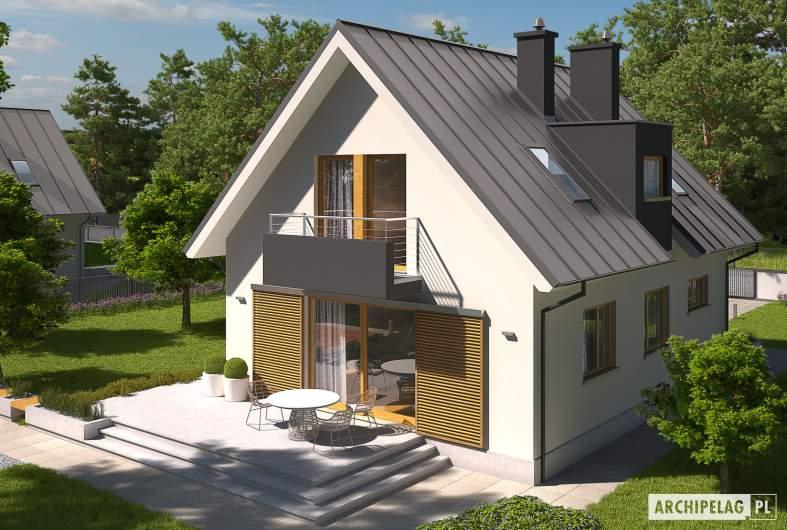 Projekt domu Eliot G1 - Projekty domów ARCHIPELAG - Eliot G1 - widok z góry