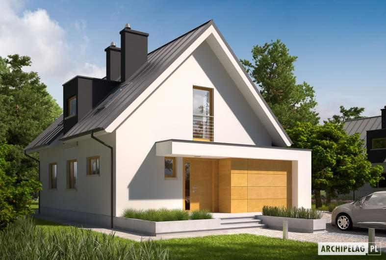 Projekt domu Eliot G1 - Projekty domów ARCHIPELAG - Eliot G1 - wizualizacja frontowa