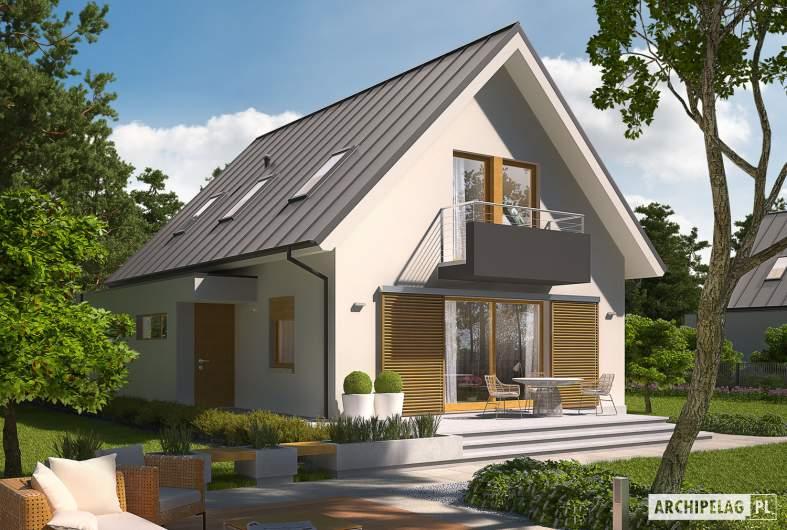 Projekt domu Eliot G1 - Projekty domów ARCHIPELAG - Eliot G1 - wizualizacja ogrodowa