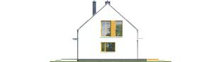 Projekt domu E12 ECONOMIC - elewacja prawa