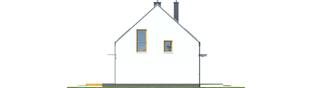 Projekt domu E12 ECONOMIC - elewacja lewa