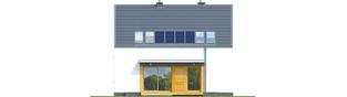 Projekt domu E12 ECONOMIC - elewacja tylna