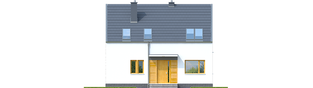 Projekt domu E12 ECONOMIC - elewacja frontowa