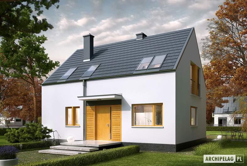 Projekt domu E12 ECONOMIC - wizualizacja frontowa