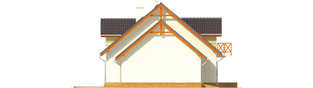 Projekt domu Marina G1 - elewacja lewa