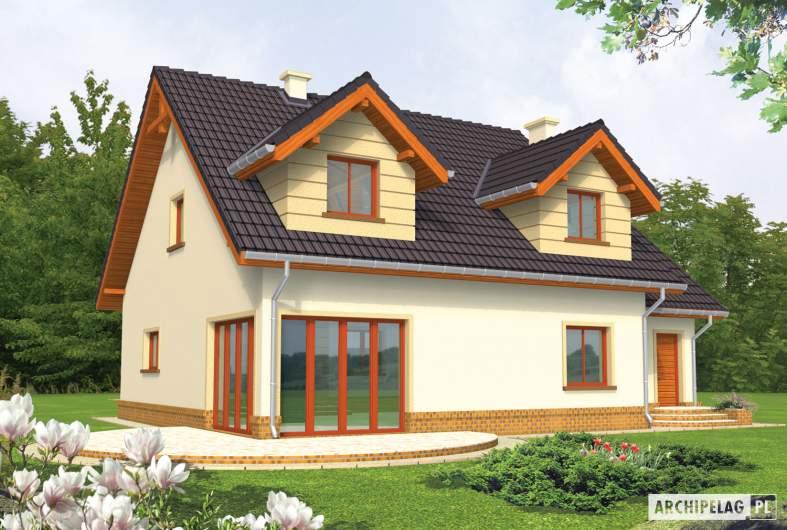 Projekt domu Marina G1 - wizualizacja ogrodowa