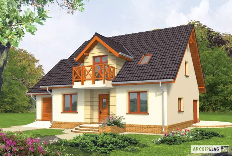 Projekt domu Marina G1 - wizualizacja frontowa