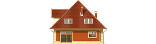Projekt domu Masza - elewacja tylna