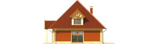 Projekt domu Masza - elewacja prawa