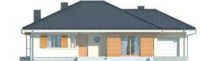Projekt domu Franczi II G1 - elewacja frontowa